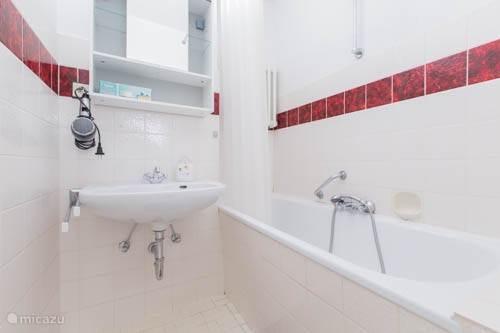 Badkamer met ligbad.