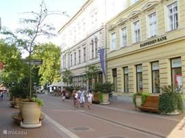 De stadjes in de omgeving zijn erg gezelig. Dit is Szeged.