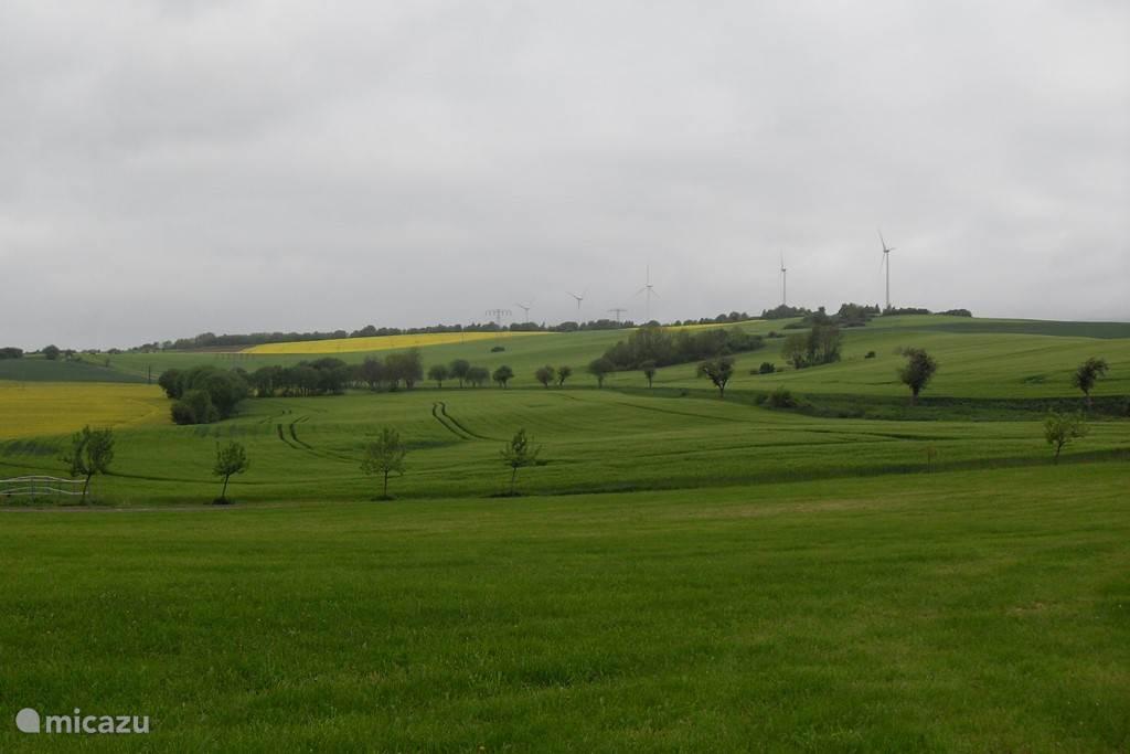 Heuvelachtige landschap in Klettenberg