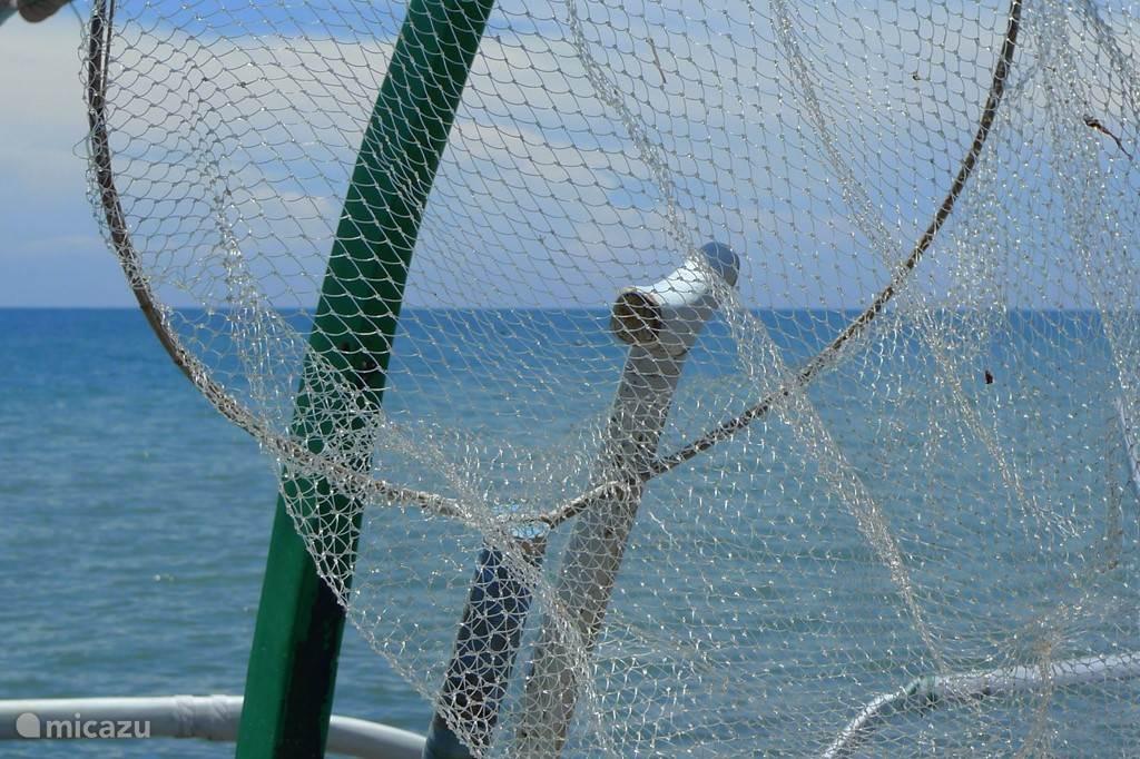 vissers bieden regelmatig verse tonijn aan