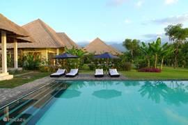 zwembaden in tropische tuin