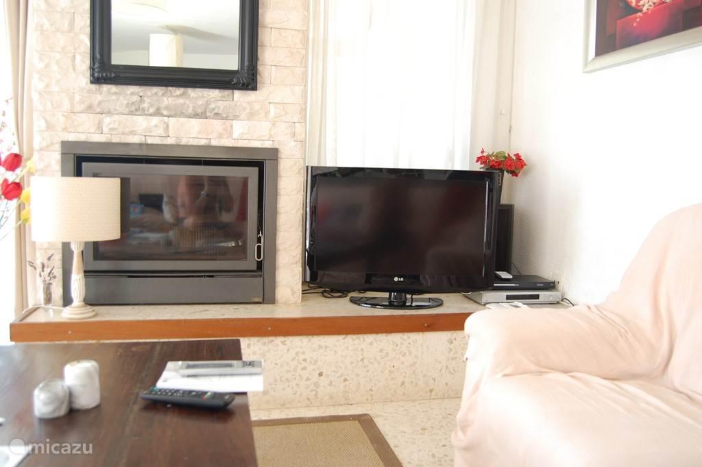 openhaard en televisie