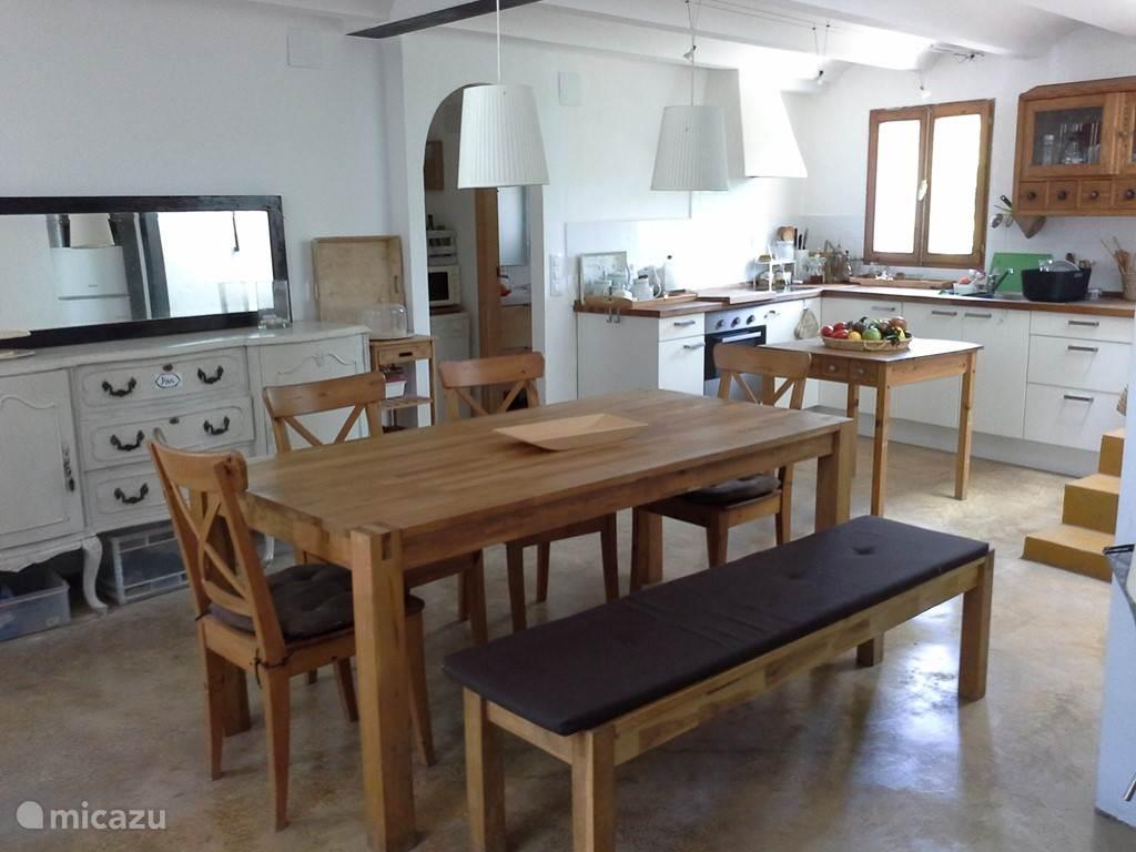 Salon, eetkamer, keuken