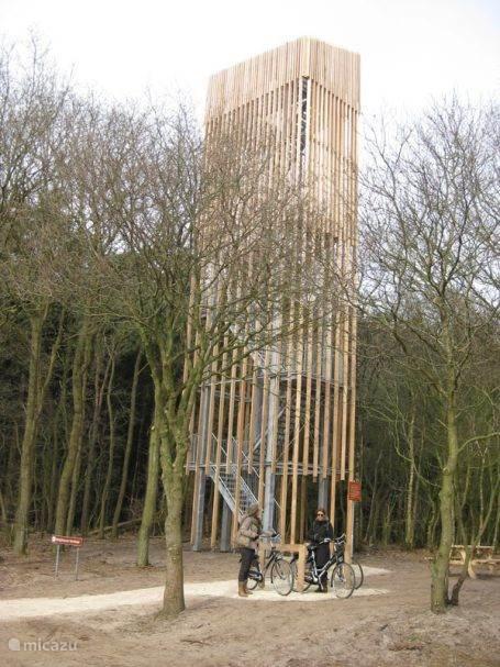 de nieuwe uitkijktoren in de nabijheid van De Bosterp