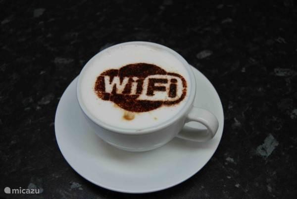 Gratis wifi! (lekker snel)