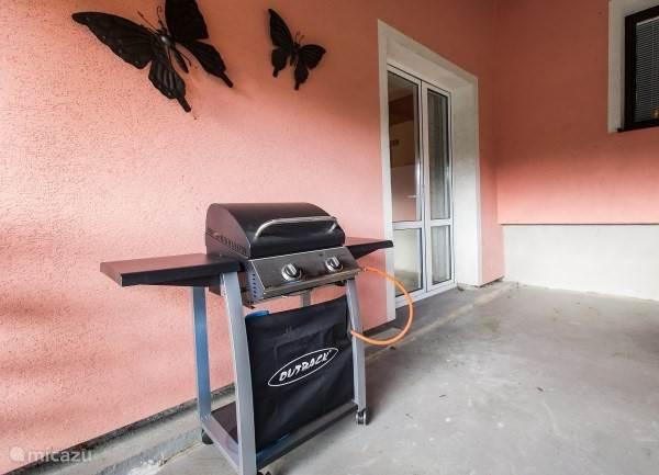 Gasbarbecue aanwezig