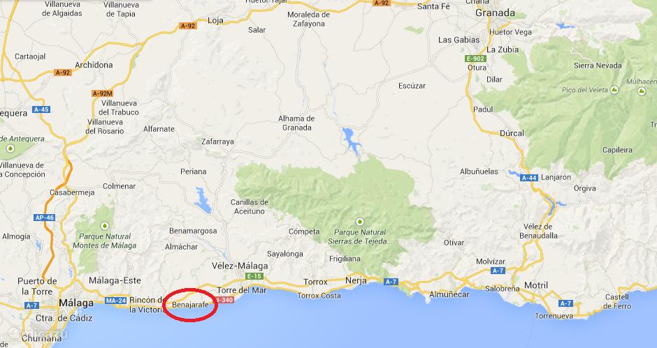 Benajarafe, Costa del Sol, 25 kilometer van Malaga