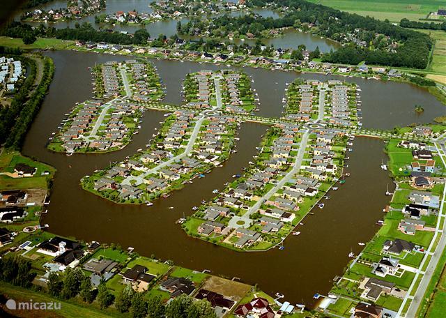 zicht op de waterwijk Meerwijck