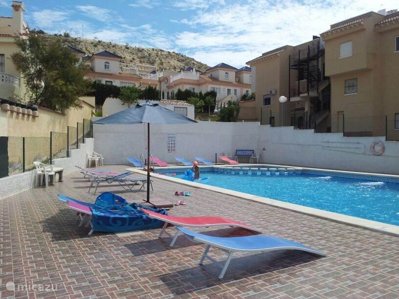 Het grote zwembad ligt voor de deur ! Hier kunt u heerlijk afkoelen.