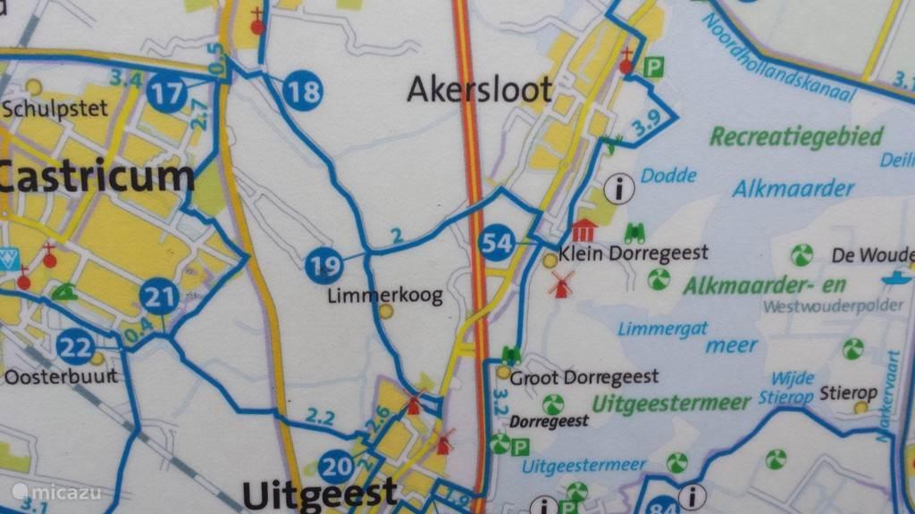 Limmerkoog,en fietsroutes.
