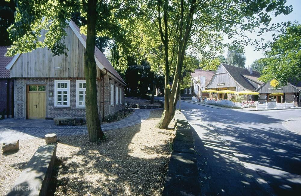 Fachwerk huis bij Burcht