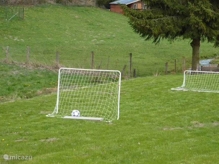 Eventjes voetballen!