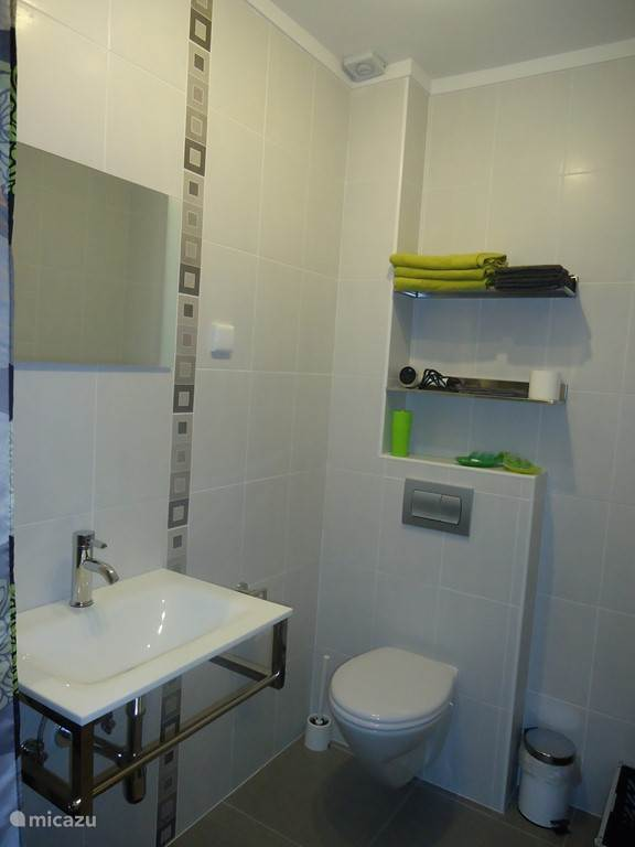Bathroom with sink and toilet