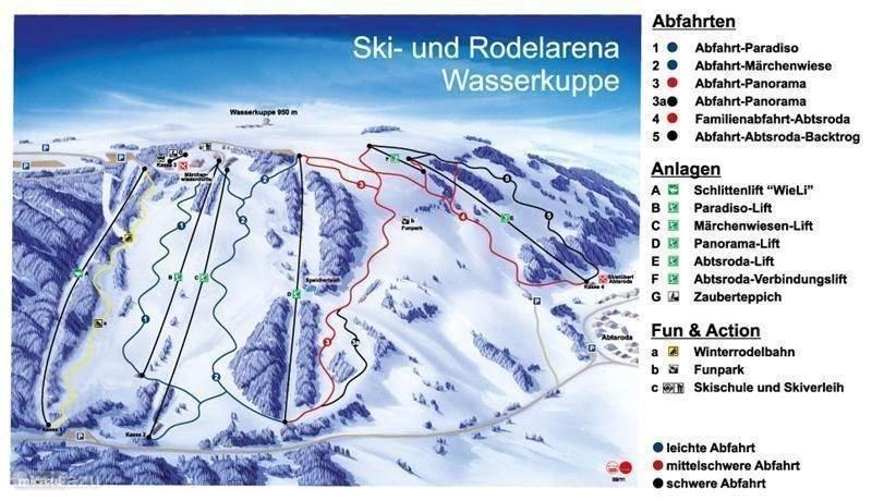 Ski area 45 min drive