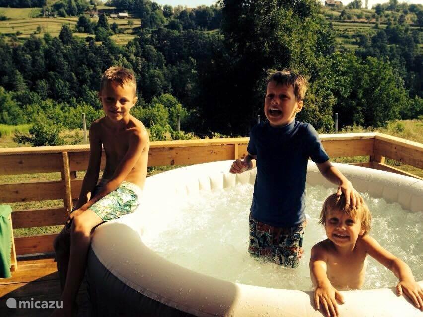 Plezier in de Jacuzzi
