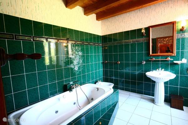 Badkamer met bubbelbad.