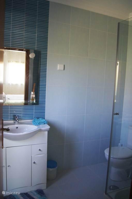 kleine badkamer met toilet (grenst aan slaapkamer 1.