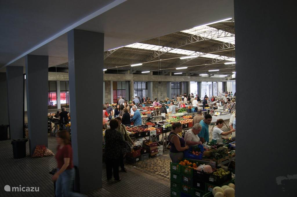 Overdekte markt in Alcobaca