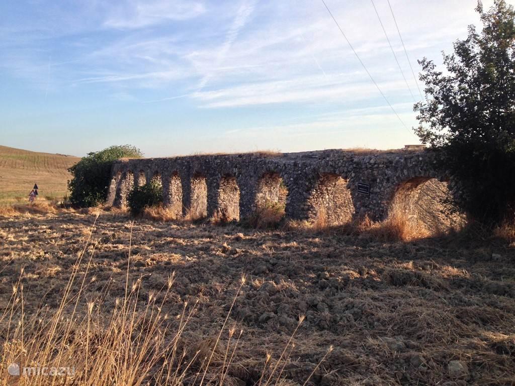 Romeins aquaduct langs de cassia