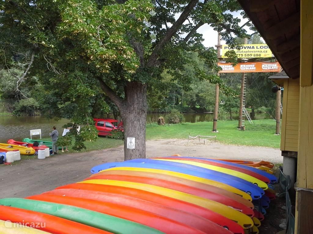 kano verhuur , trip op de rivier