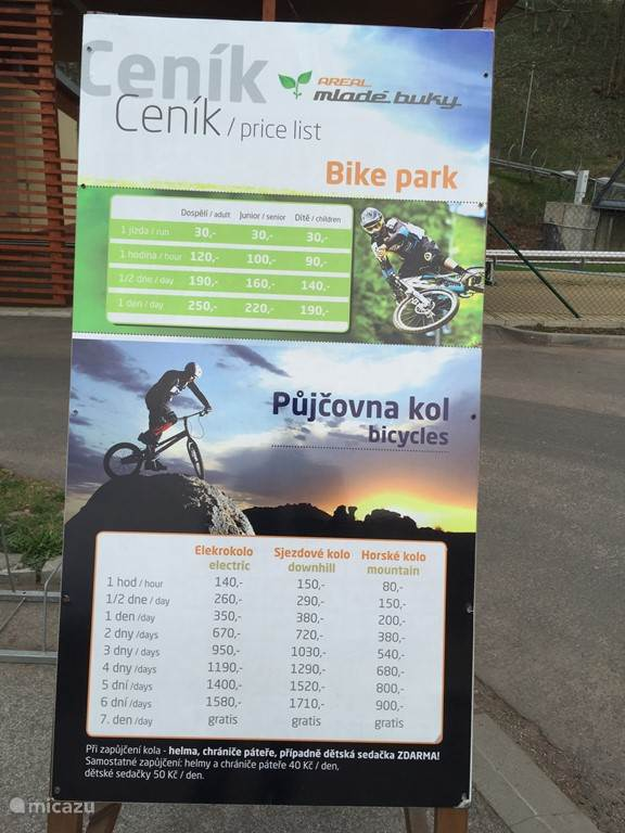 bike park in Mlade Buky