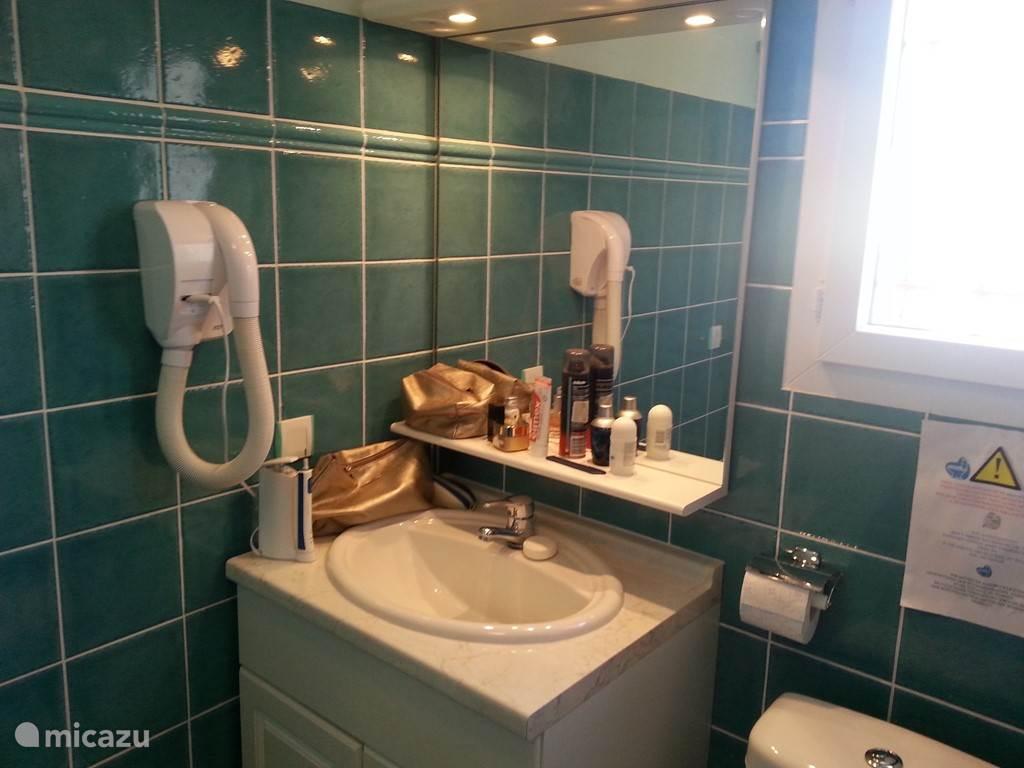 De badkamer boven