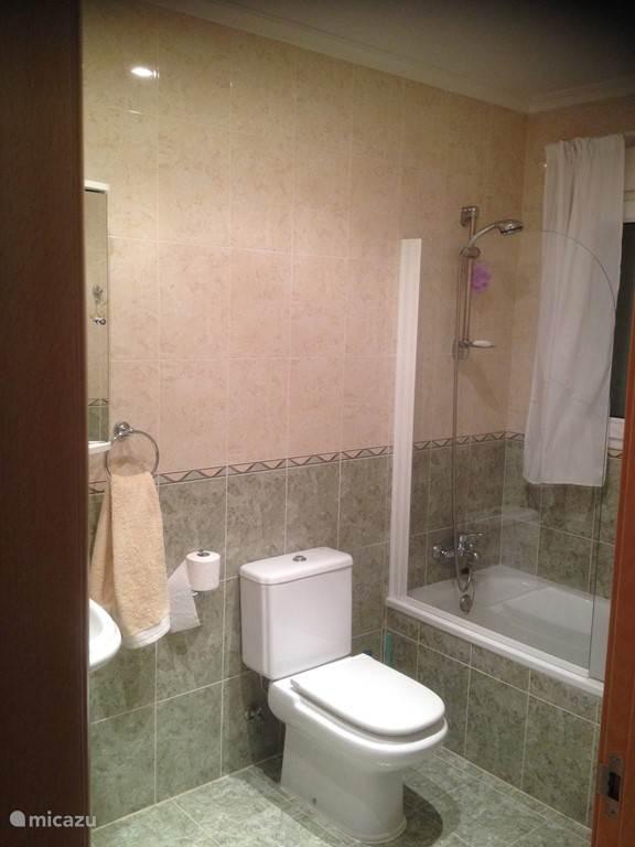 Badkamer op de begane grond.