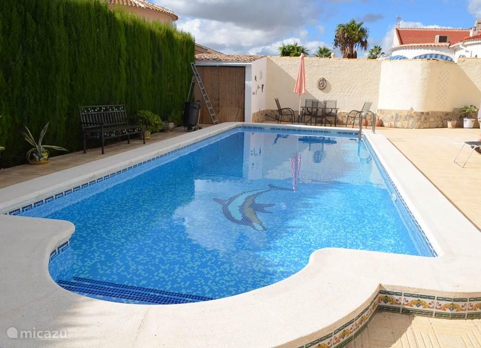 Een ruim (verwarmbaar) zwembad van 10x4m en diepte oplopend tot 2,2m!