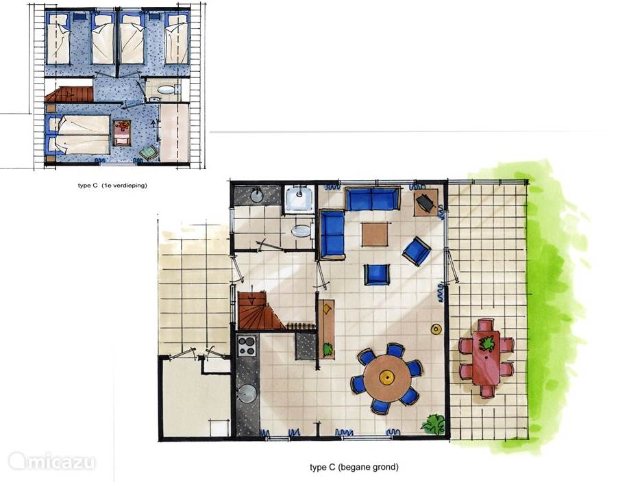 Vakantiehuis Nederland, Noord-Holland, Sint Maartenszee Vakantiehuis Bungalow type C op Park Campanula