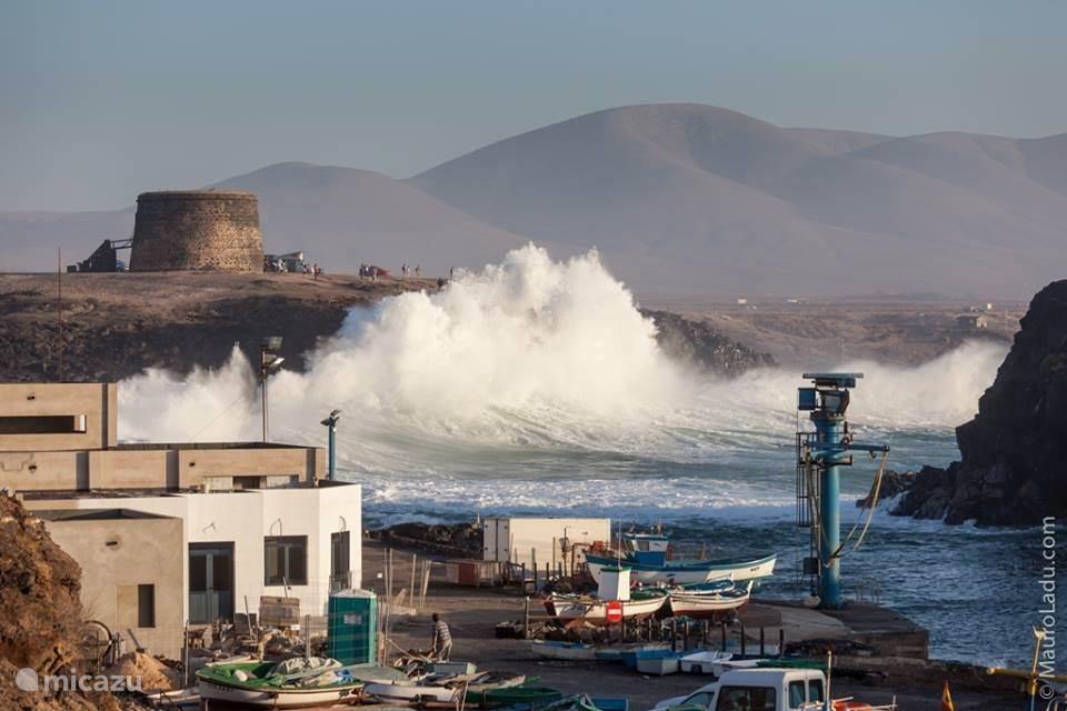 De haven tijdens een storm