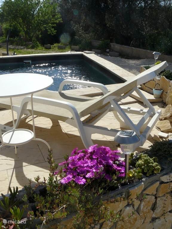 Relax bij het zwembad.