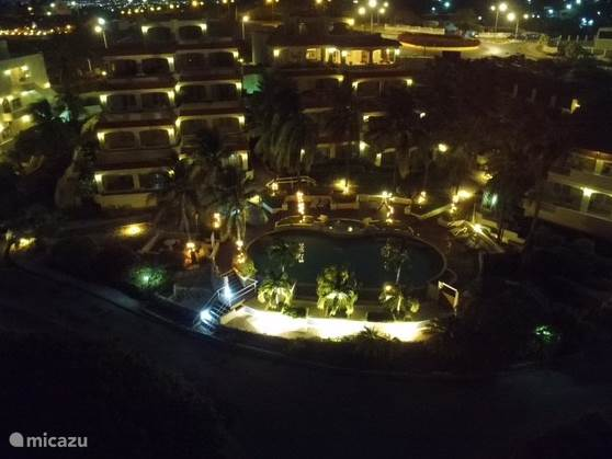 Swimmingpool Night  take with Drone