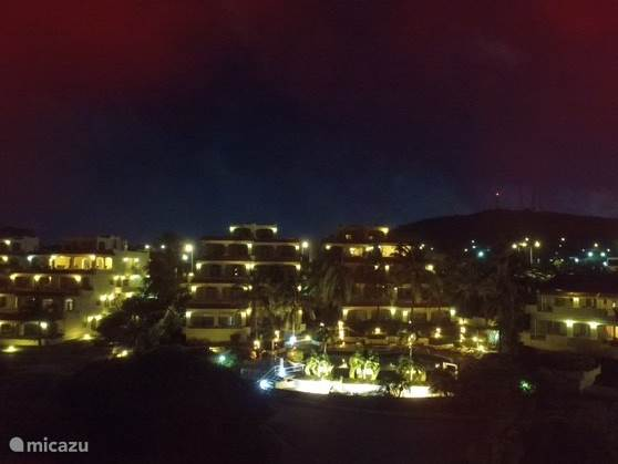 Royal Palm resort by night