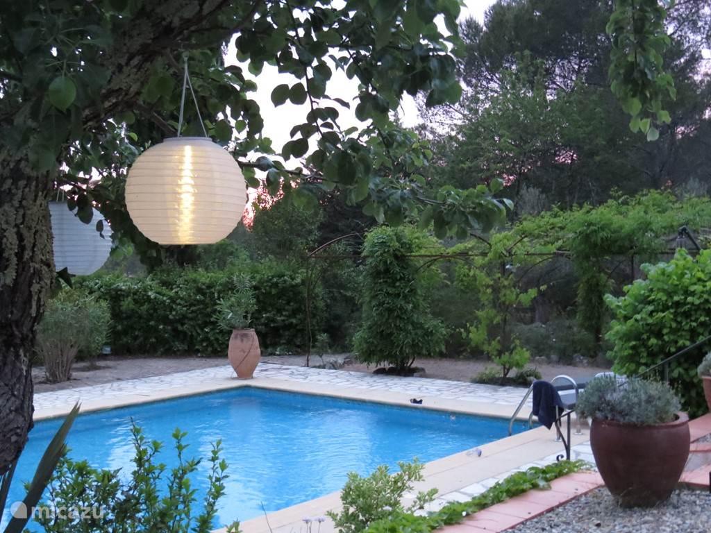 Zwembad vanaf het terras