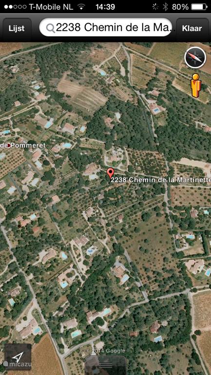 Mas de Charles via Google Earth.