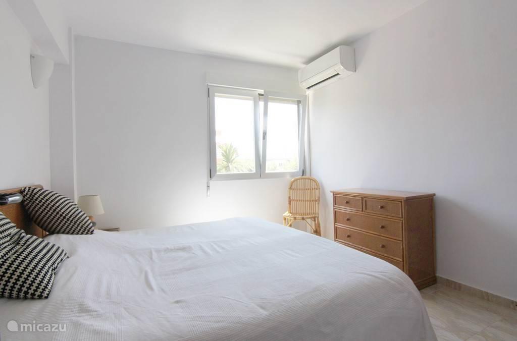 Slaapkamer voorzien van airconditioning