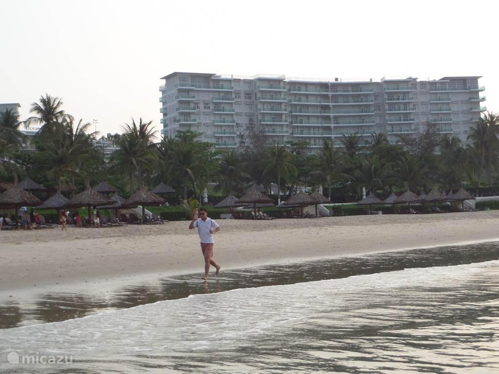 jogging of lopen aan het strand