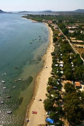 Gialova beach, 170 meter gelegen vanaf de Bungalow
