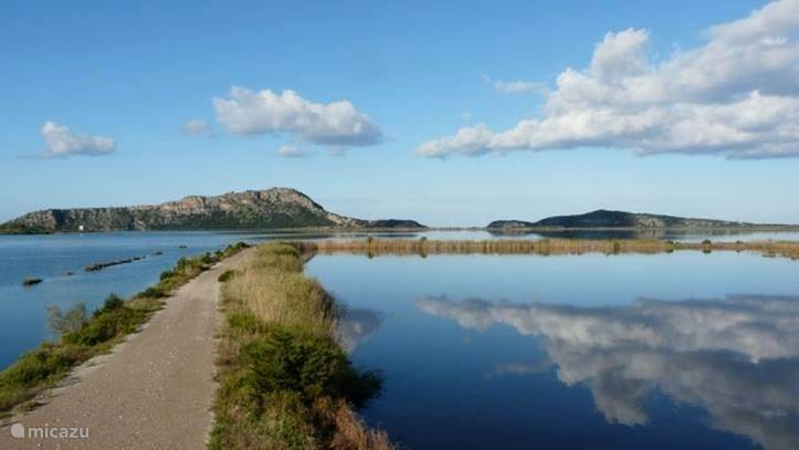 Gialova Lagoon, een natura 2000 project: prachtige wandelingen en fietstochten.