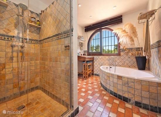 Badkamer bij Mimosa Suite