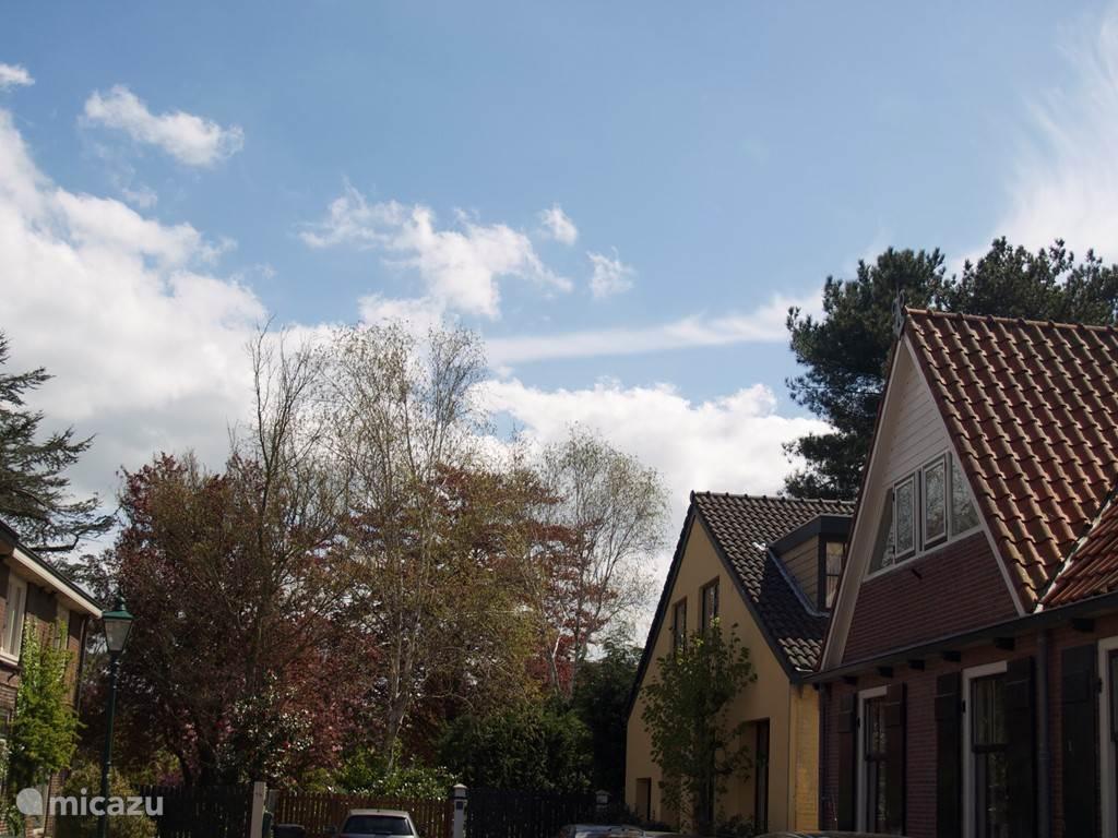 Aan het eind van de straat begint het groen, met meteen daarachter de Kagerplassen.