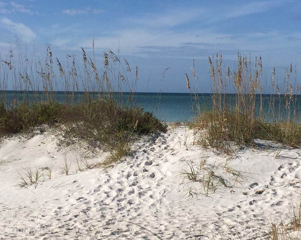 Het strand overdag.
