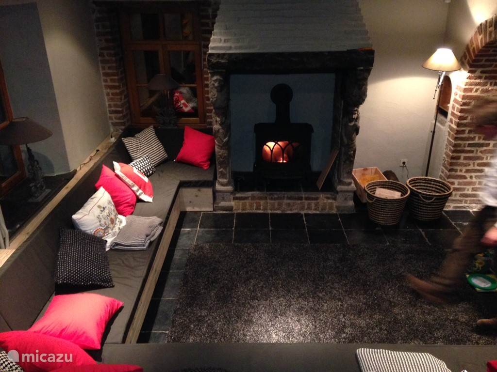 Lounge with fireplace, sofa place for everyone