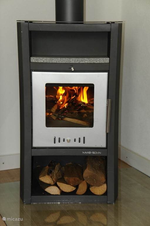 Wood-burning stove, just for romance