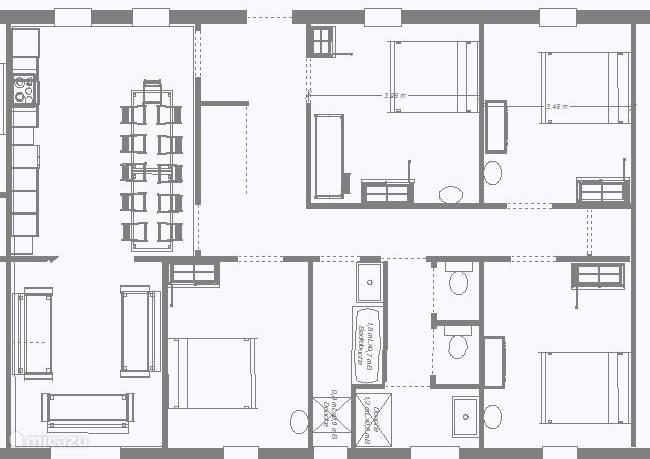 Plattegrond van de woning