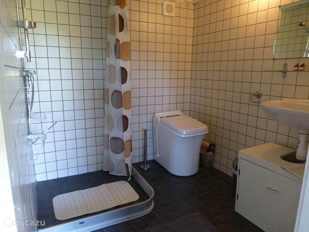 Badkamer annex toilet