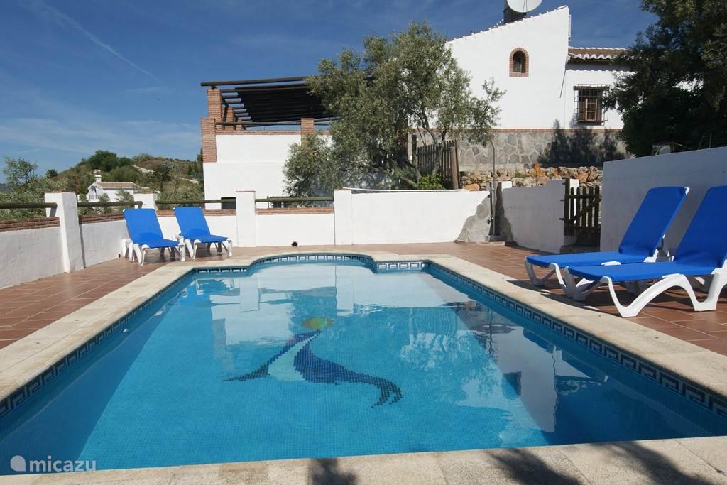 Royaal zwembad, veilig gelegen naast de villa.