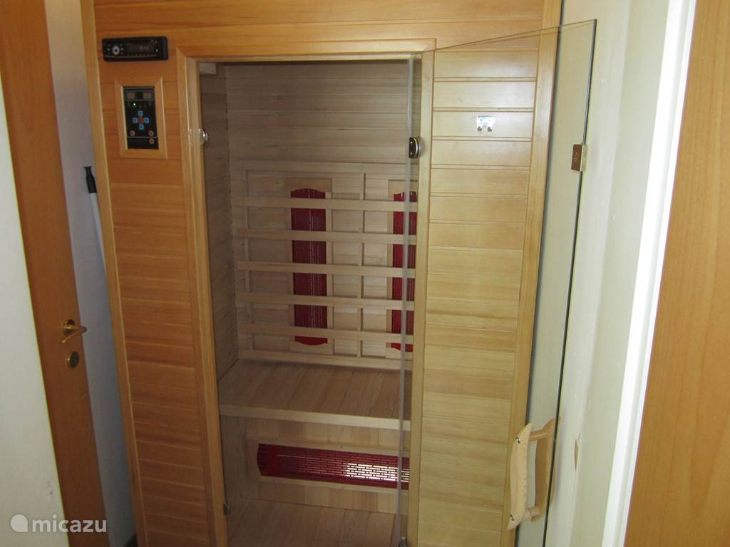 A delicious double infrared sauna, just bring an extra towel and your muscles feel like new again.