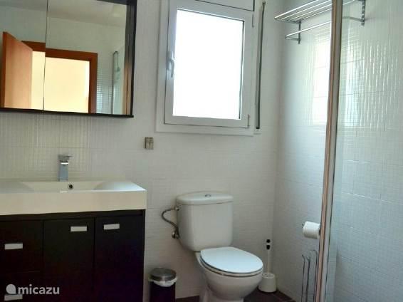 badkamer 1 met douche, toilet en wastafel
