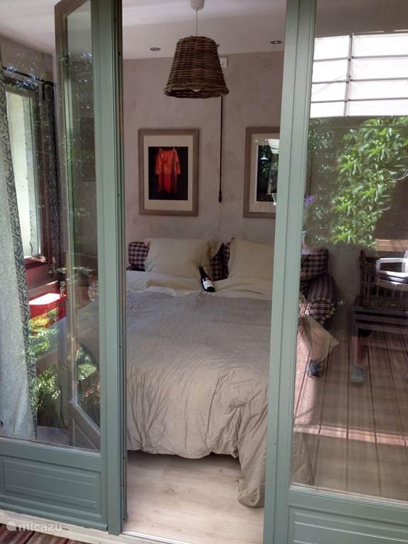 Room with patio doors